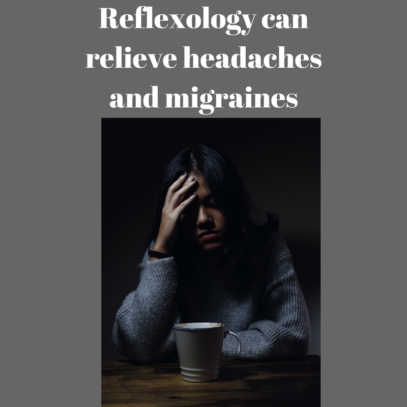 Reflexology can relieve headaches and migraines